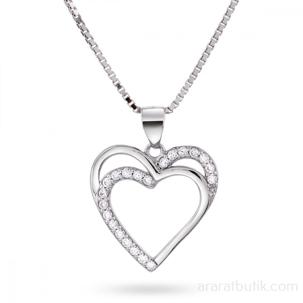 Hjärta med cubic zirconia