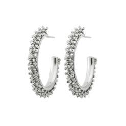 Tinsel Earrings Creole Steel
