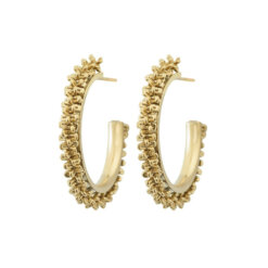 Tinsel Earrings Creole Gold