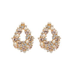 Lily And Rose Alice pearl earrings - Ivory silk