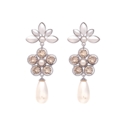 Lily And Rose Aurora Pearl earrings - Ivory silk