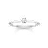 Thomas Sabo ring vit sten silver