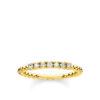 Thomas Sabo ring kulor med vita stenar guld