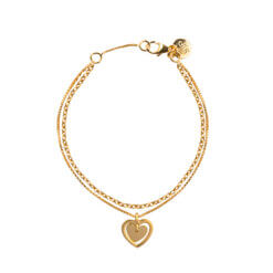 Syster P The Heart In My Heart Bracelet Gold
