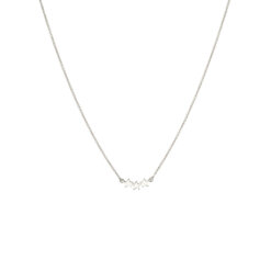 Syster P Snap Necklace Triple Star Plain Silver