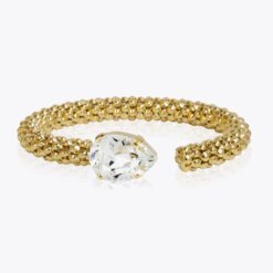 Classic Rope Bracelet Gold Crystal