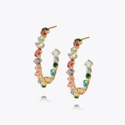 Antonia Loop Earring Gold Pomelo Combo